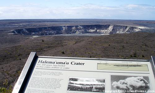 HALEMAUMAU CRATER FROM JAGGAR MUSEUM