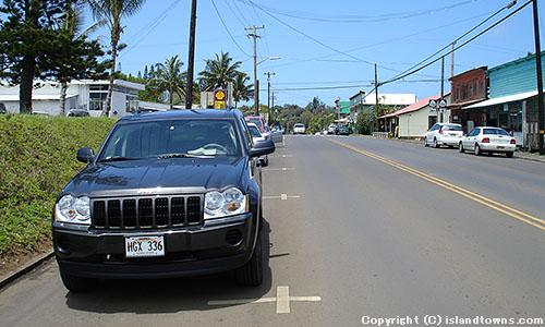 PARKING ON ROAD SHOULDER, HAWI TOWN